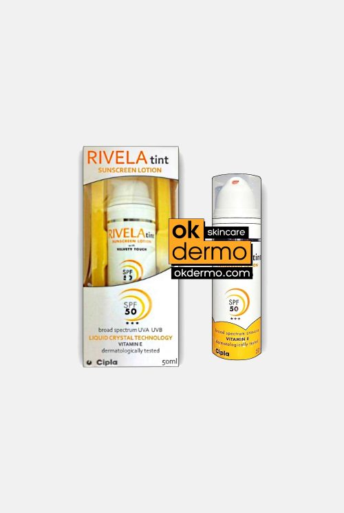 RIVELA® Tint SPF-50 Sunscreen Vitamin E 1% Lotion By Cipla 50ml